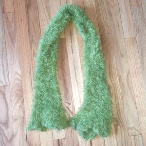 Fun Lime Green Fuzzy Scarf!